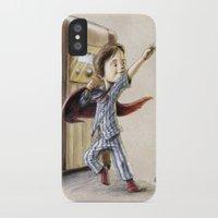 superhero iPhone & iPod Cases featuring Serial Superhero by Allan McInnes