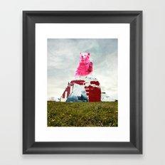 Bear Salute Framed Art Print
