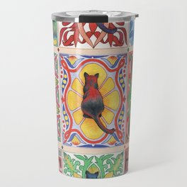Cat Tiles Travel Mug