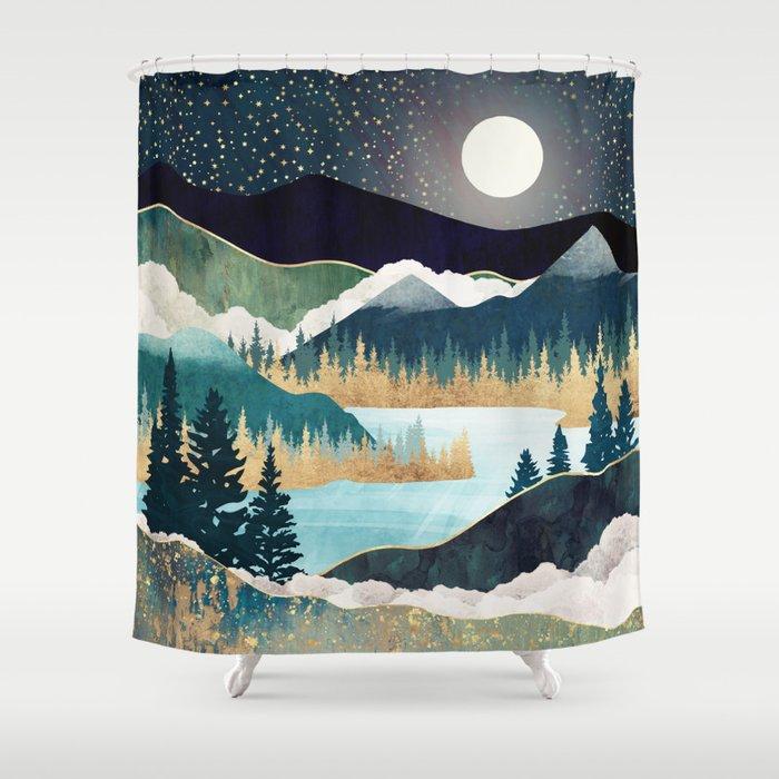 Star Lake Shower Curtain
