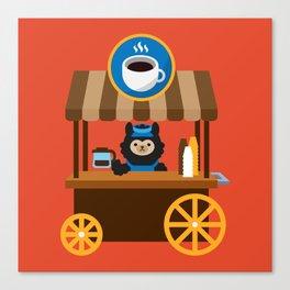 Alpaca Coffee Shop Canvas Print