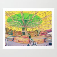 carnival Art Prints featuring Carnival by Jacqueline Drayer