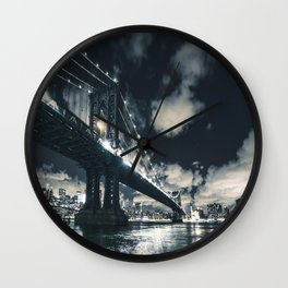 manhattan bridge in nyc Wall Clock
