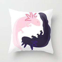 Yin&Yang Axolotls Throw Pillow