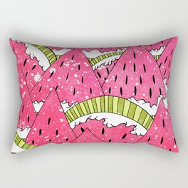 Watermelon Mounts Rectangular Pillow