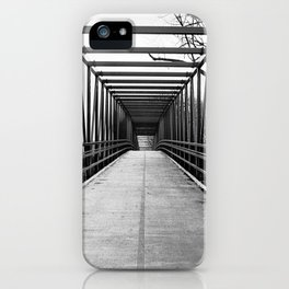 Bridge to Nowhere Black and White Photography iPhone Case