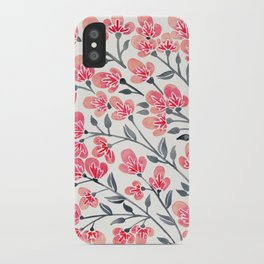 Cherry Blossoms – Pink & Black Palette iPhone Case