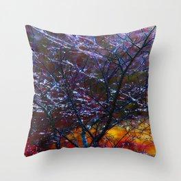 spring Ice Storm Throw Pillow