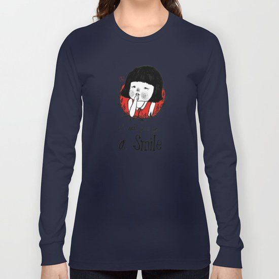 shiiii- you will smile :) Long Sleeve T-shirt