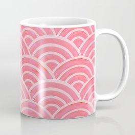 Japanese Seigaiha Wave – Powder Pink Palette Coffee Mug