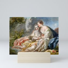 "Jean-Honoré Fragonard ""Jupiter Disguised As Diana Tries To Seduce Callisto"" Mini Art Print"