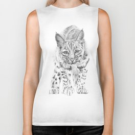On the Prowl :: A Young Bobcat Biker Tank