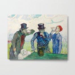 Vincent Van Gogh - The Drinkers Metal Print
