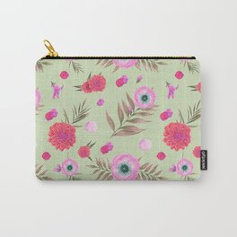 Modern pink lavender watercolor geometric floral Carry-All Pouch