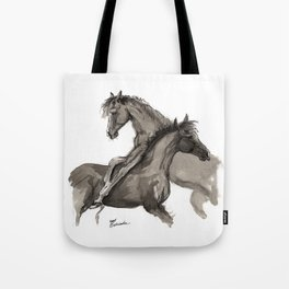 Arabian foals ink art Tote Bag