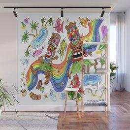 Hawaiian Tiki Play Date Wall Mural