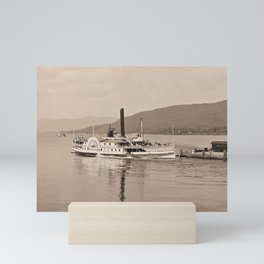 The Horicon I Steamboat (sepia) Mini Art Print