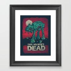 Walker's Dead V2 Framed Art Print