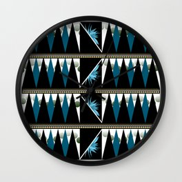 Blue Shapes Fanatasy Wall Clock