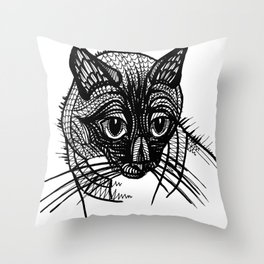 Miqo, the siames cat Throw Pillow