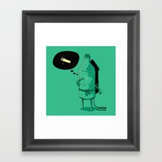 Sending my dream into the universe (2013 remake) Framed Art Print