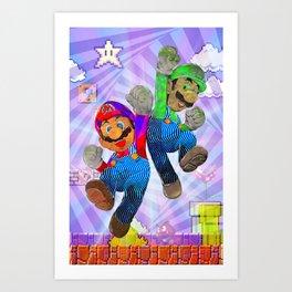 Pop Art Mario Brothers Art Print