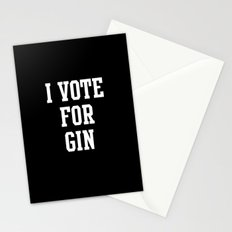 I VOTE FOR GIN Stationery Cards