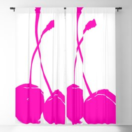 Pink neon Cherry Blackout Curtain