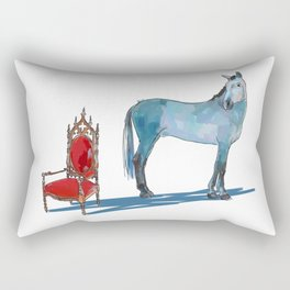 animals with chairs #1 The argument Rectangular Pillow