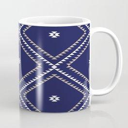 Navajo Pattern - Tan / White / Navy Coffee Mug