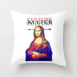 Mona Lisa, Retro, Pop Throw Pillow