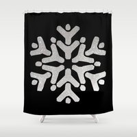 snowflake Shower Curtains featuring Snowflake by iMei