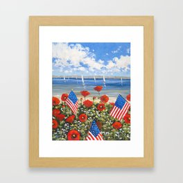 July 4th Poppies Framed Art Print