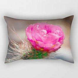 Blooming Cactus Rectangular Pillow