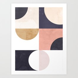 Geometric Moontime 1 Art Print