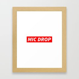 BTS MIC DROP Framed Art Print