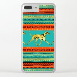 Azawakh Sighthound on African Patern Clear iPhone Case