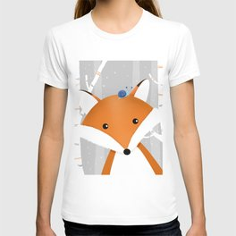 Fox and snail T-shirt