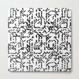 A Mazing Pattern Metal Print