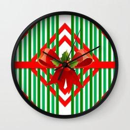 Holiday Present Pattern Wall Clock