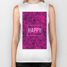 FLOWERS 5 HAPPY Biker Tank