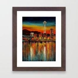 Seattle from Alki Framed Art Print