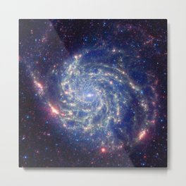 771. Spitzer Space Telescope View of Galaxy Messier 101 Metal Print