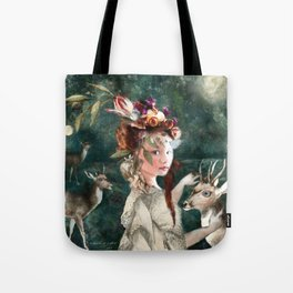 Midnight Spring Moon Tote Bag
