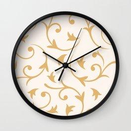 Baroque Design – Gold on Cream Wall Clock