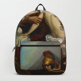 Alexandre Charles Guillemot - Mars and Venus Surprised by Vulcan (1827) Backpack