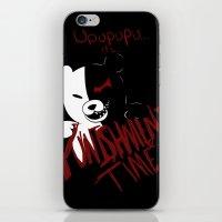 dangan ronpa iPhone & iPod Skins featuring Dangan Ronpa: Monokuma's Punishment by Michelle Rakar