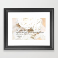 Roses and Scripture Framed Art Print