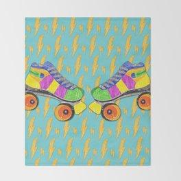 roller skates Throw Blanket