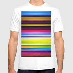 Light Beams White MEDIUM Mens Fitted Tee